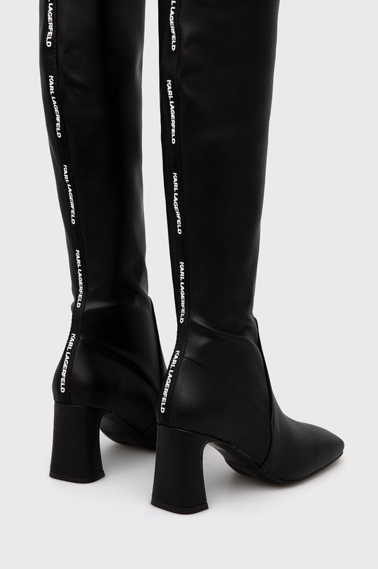 Karl Lagerfeld - Kozaki Cholewka: Materiał syntetyczny, Wnętrze: Materiał syntetyczny, Skóra naturalna, Podeszwa: Materiał syntetyczny