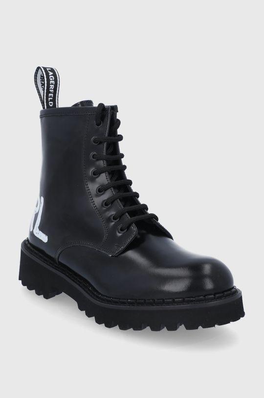 Karl Lagerfeld - Workery skórzane Troupe czarny