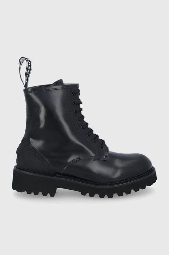 czarny Karl Lagerfeld - Workery skórzane Troupe Damski