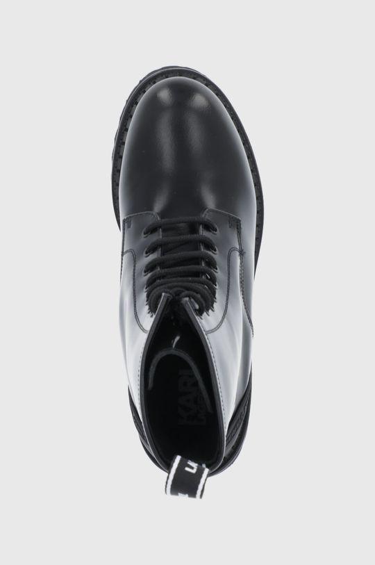 czarny Karl Lagerfeld - Workery skórzane Troupe