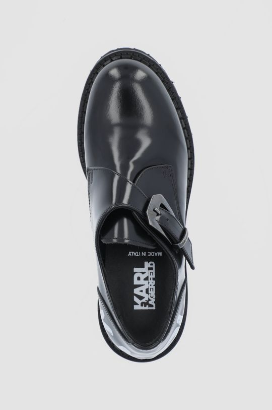 czarny Karl Lagerfeld - Półbuty skórzane