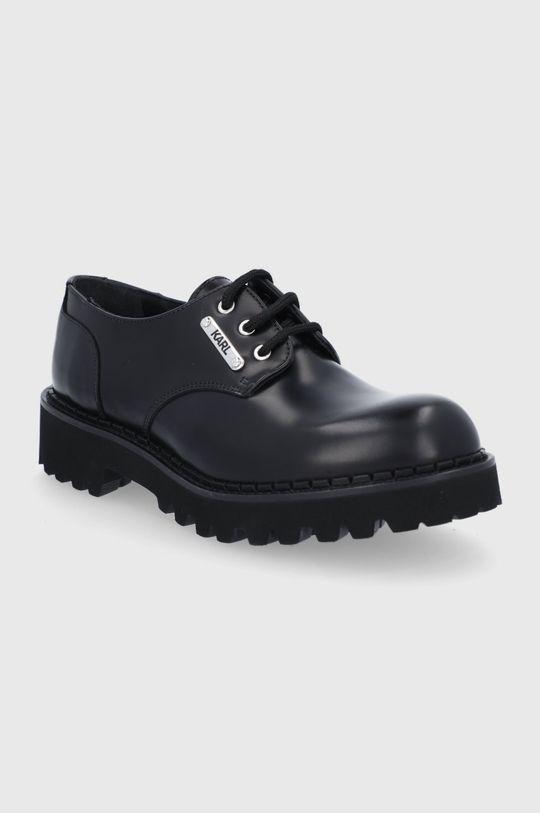 Karl Lagerfeld - Półbuty skórzane czarny