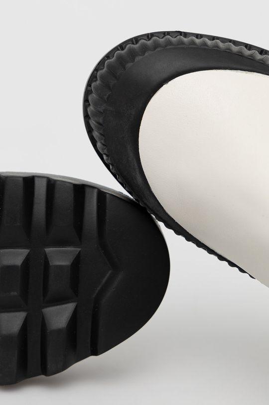 biały Karl Lagerfeld - Sztyblety skórzane