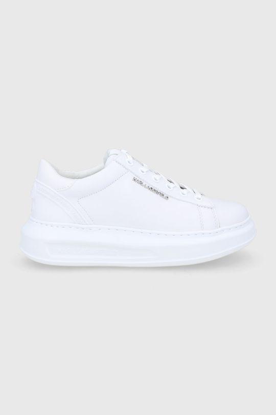 biały Karl Lagerfeld - Buty skórzane Kapri Damski