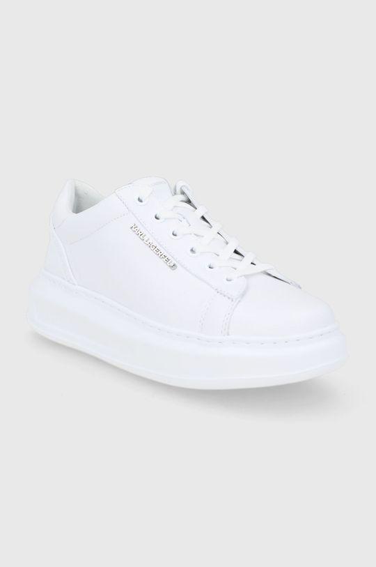 Karl Lagerfeld - Buty skórzane Kapri biały