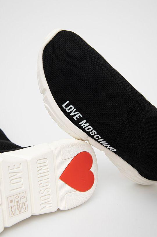 černá Love Moschino - Boty