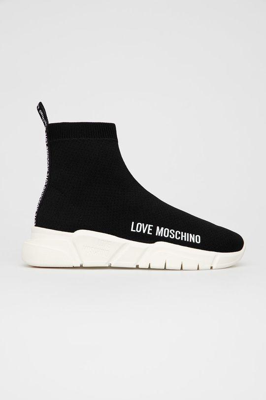 černá Love Moschino - Boty Dámský