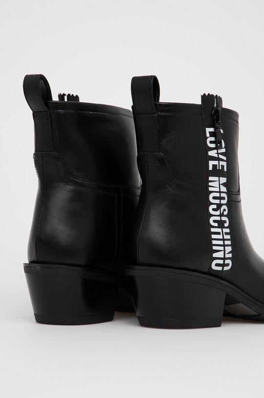 Love Moschino - Westernové kožené boty  Svršek: Přírodní kůže Vnitřek: Umělá hmota Podrážka: Umělá hmota