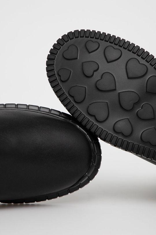 černá Love Moschino - Nízké kozačky