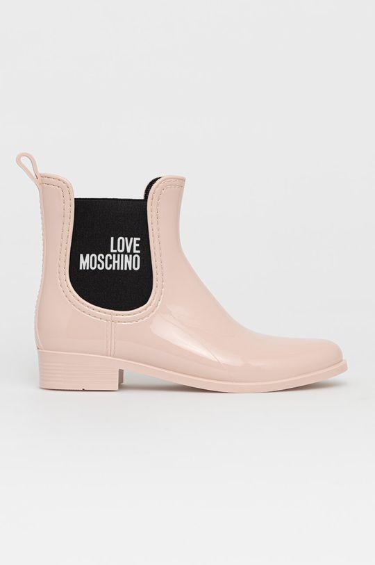pastelowy różowy Love Moschino - Kalosze Damski