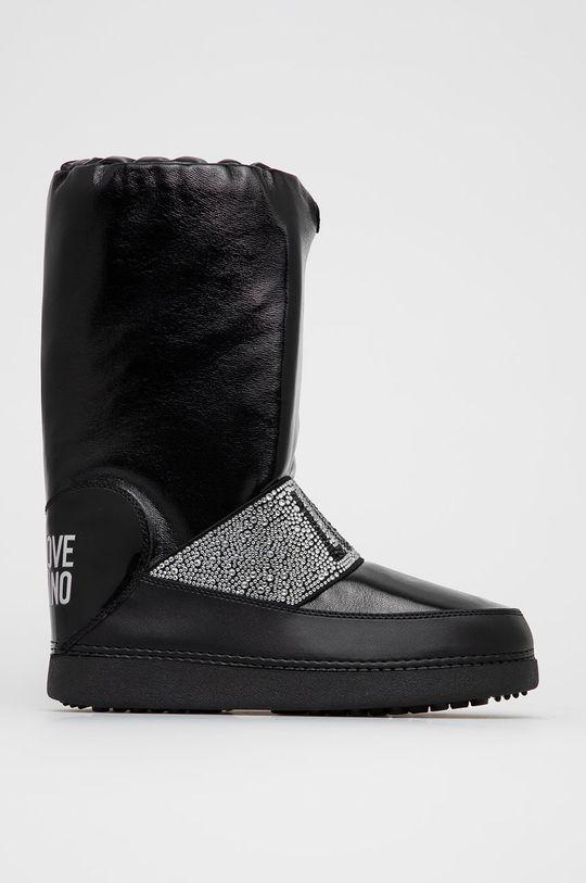czarny Love Moschino - Śniegowce Damski