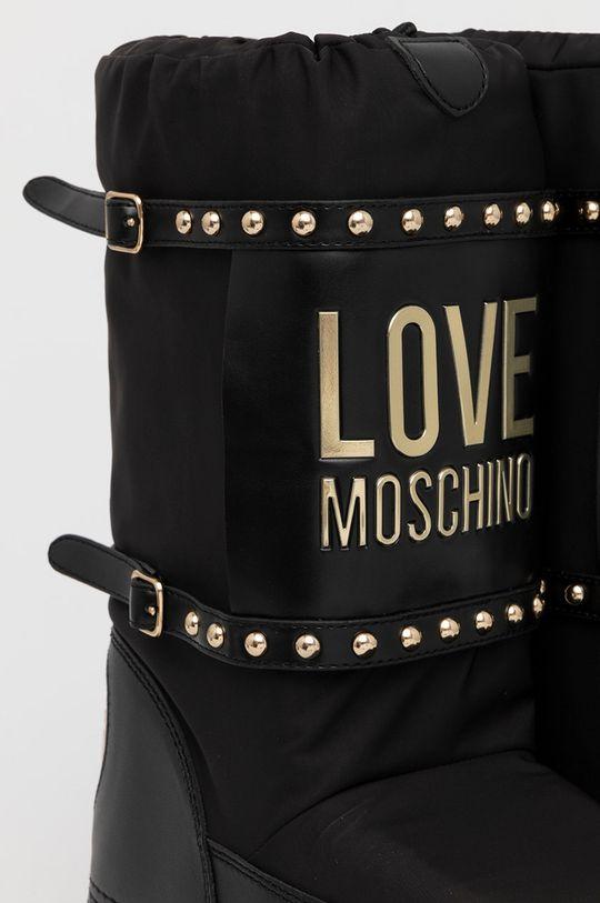 czarny Love Moschino - Śniegowce