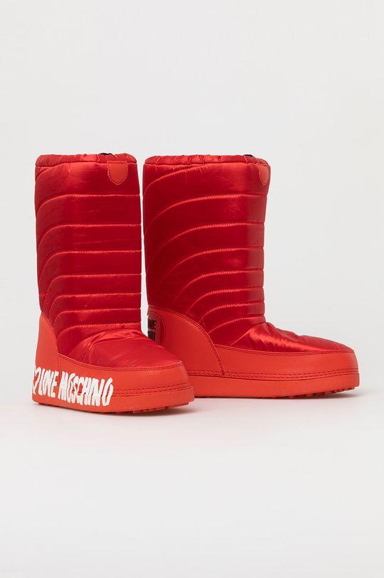 Love Moschino - Cizme de iarna rosu