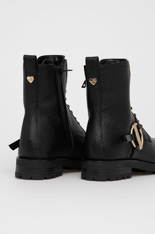Love Moschino - Kožené kotníkové boty  Svršek: Přírodní kůže Vnitřek: Umělá hmota Podrážka: Umělá hmota