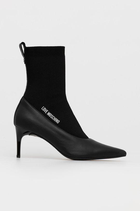 čierna Love Moschino - Členkové topánky Dámsky
