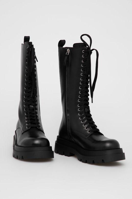 Twinset - Kožené workery černá