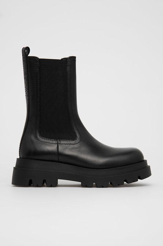 černá Twinset - Kožené kotníkové boty Dámský