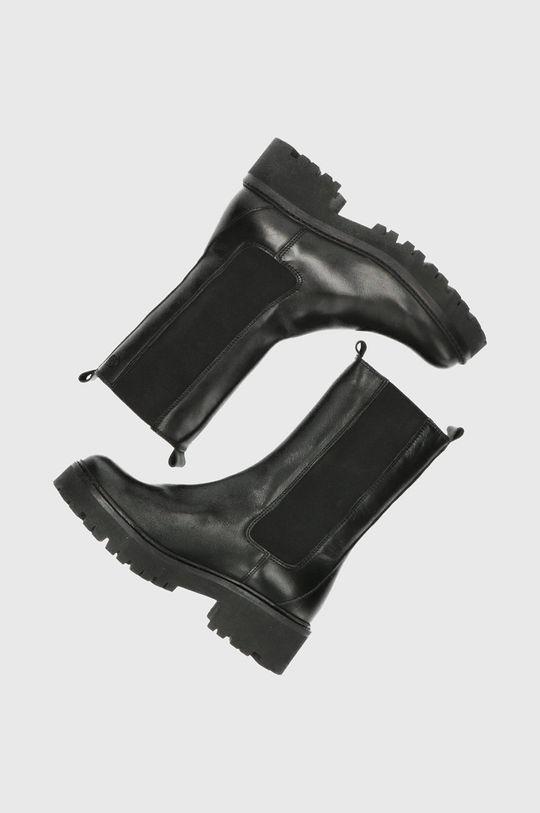 czarny Mexx - Sztyblety skórzane