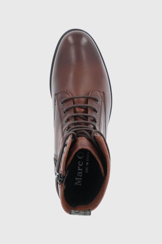 kaštanová Marc O'Polo - Kožené kotníkové boty