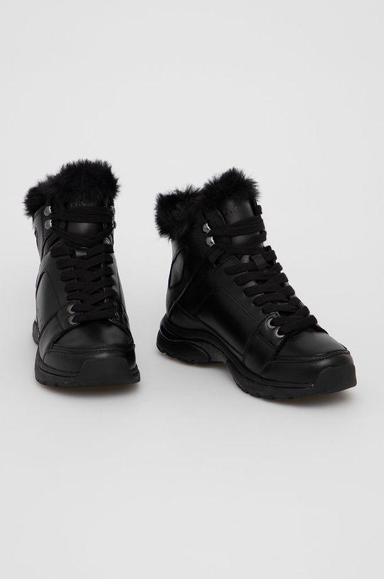 Calvin Klein - Śniegowce skórzane czarny