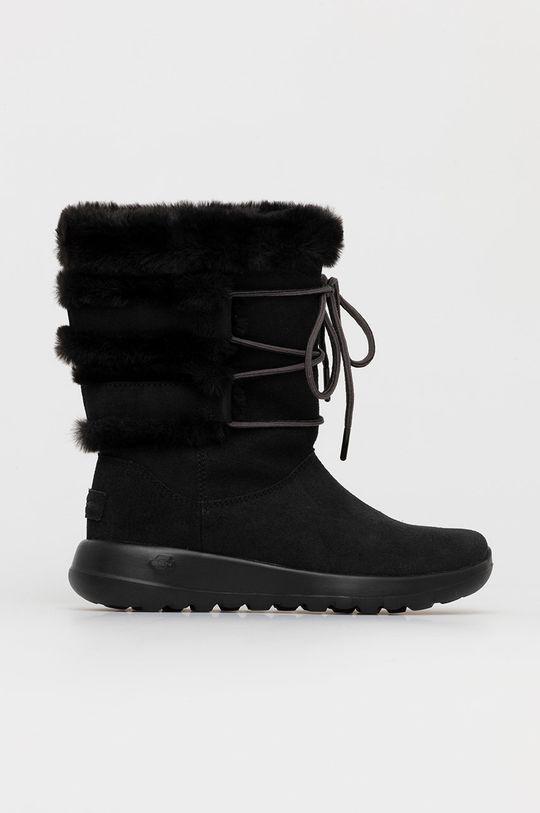 czarny Skechers - Śniegowce zamszowe Damski