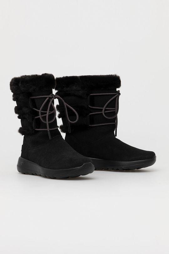 Skechers - Śniegowce zamszowe czarny
