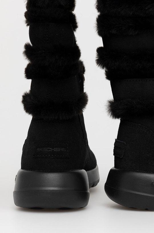 Skechers - Śniegowce zamszowe Cholewka: Skóra zamszowa, Wnętrze: Materiał tekstylny, Podeszwa: Materiał syntetyczny
