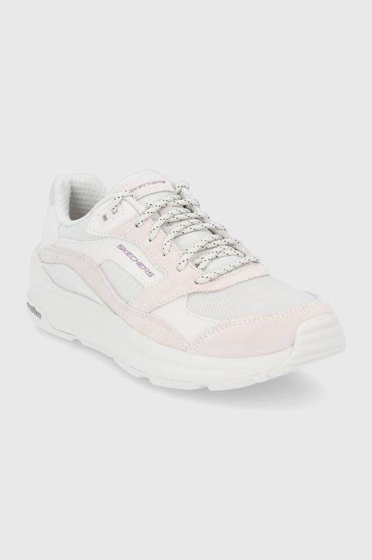Skechers - Topánky krémová