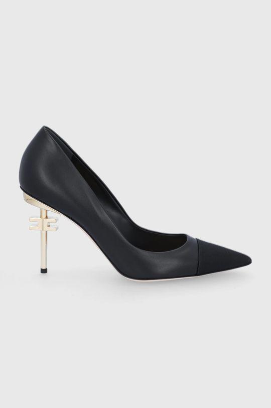 černá Elisabetta Franchi - Kožené lodičky Dámský