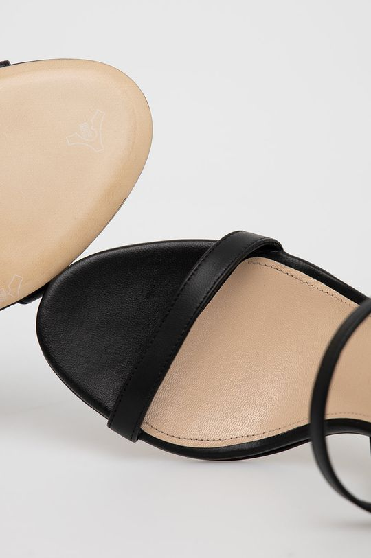 czarny Elisabetta Franchi - Sandały skórzane