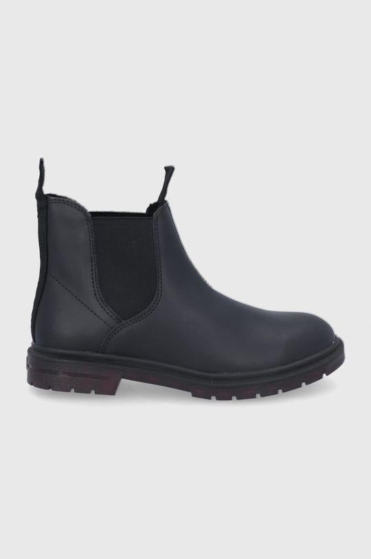 μαύρο Wrangler - Δερμάτινες μπότες Τσέλσι Γυναικεία