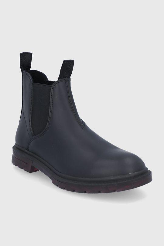 Wrangler - Δερμάτινες μπότες Τσέλσι μαύρο