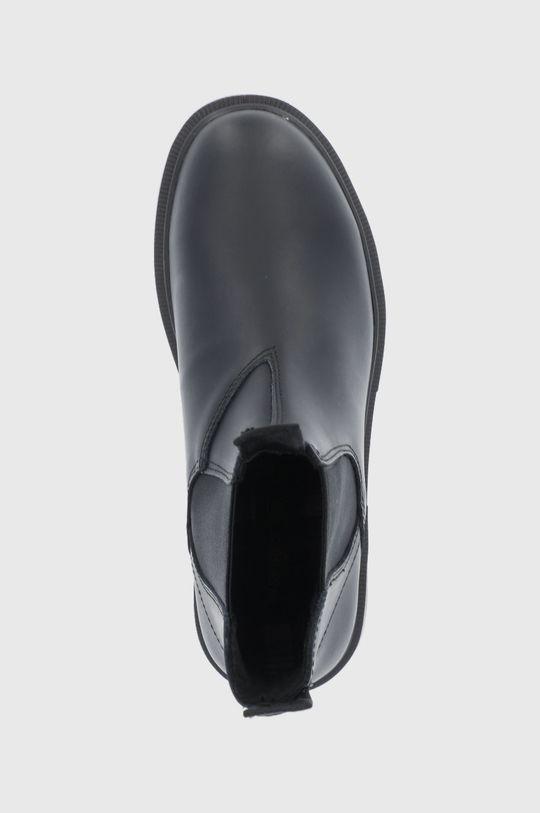 μαύρο Wrangler - Δερμάτινες μπότες Τσέλσι