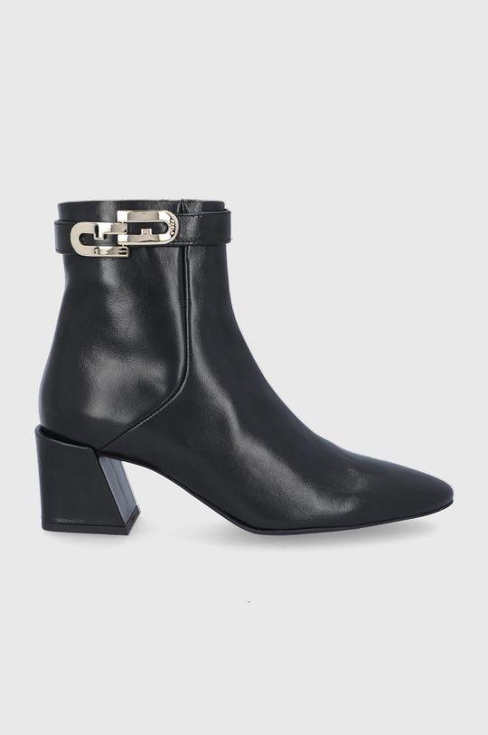čierna Furla - Kožené členkové topánky Chain Dámsky