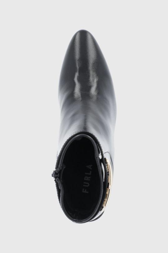 čierna Furla - Kožené členkové topánky Chain