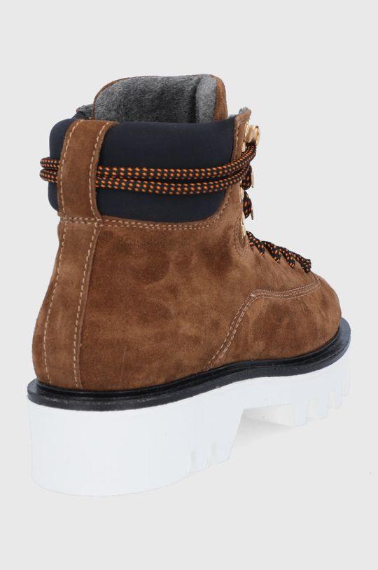 Furla - Workery zamszowe Rita Hiking Boot Cholewka: Skóra zamszowa, Wnętrze: Materiał syntetyczny, Podeszwa: Materiał syntetyczny