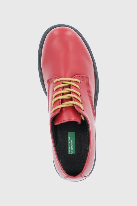 czerwony United Colors of Benetton - Półbuty