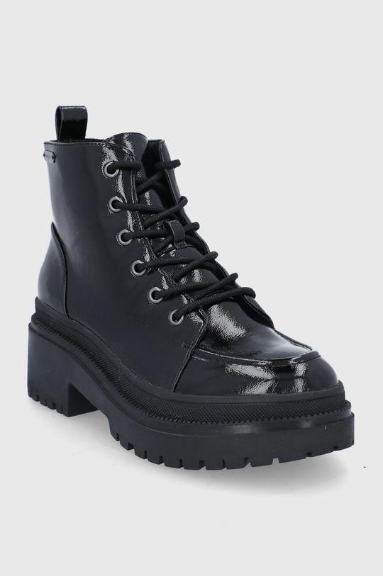Pepe Jeans - Botki Rock Laces czarny