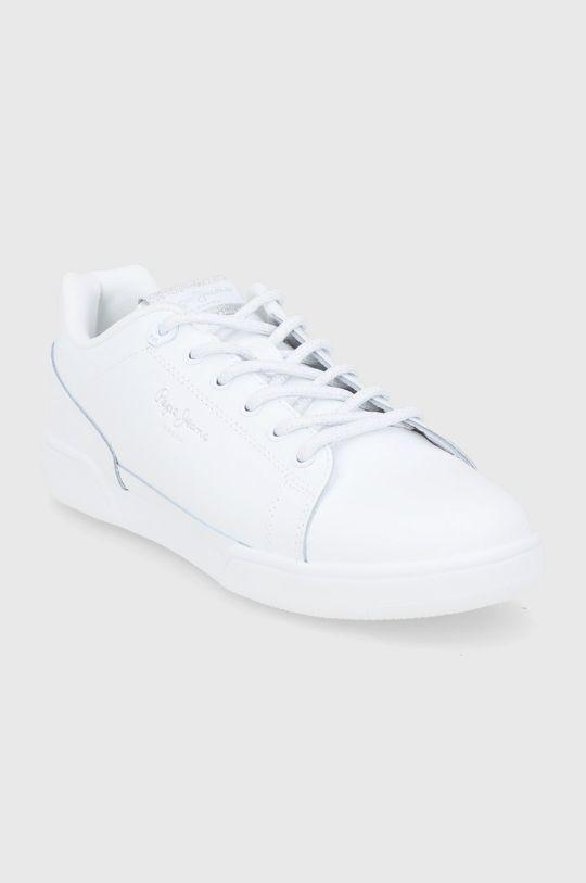 Pepe Jeans - Buty skórzane Lambert biały