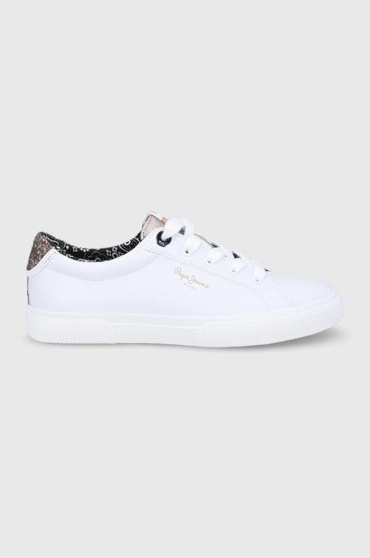 biały Pepe Jeans - Tenisówki Kenton Plain Damski