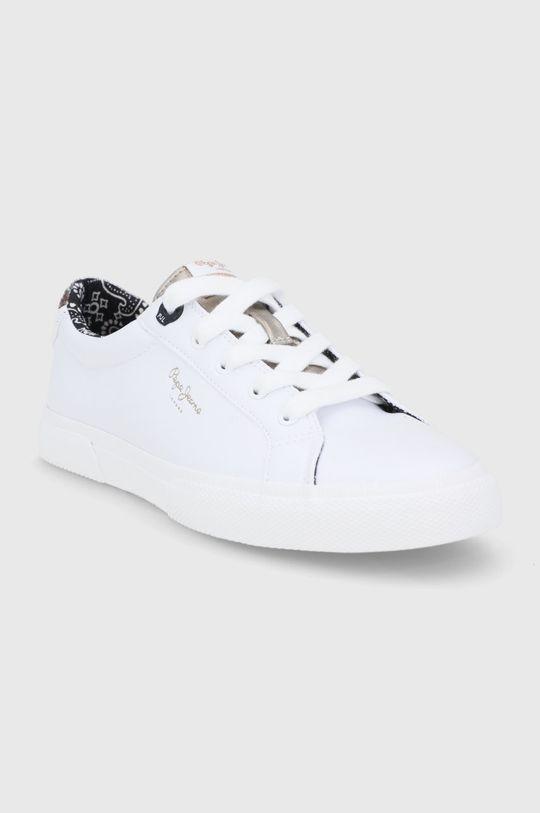 Pepe Jeans - Tenisówki Kenton Plain biały