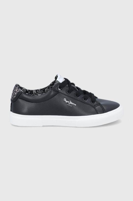 czarny Pepe Jeans - Tenisówki Kenton Plain Damski