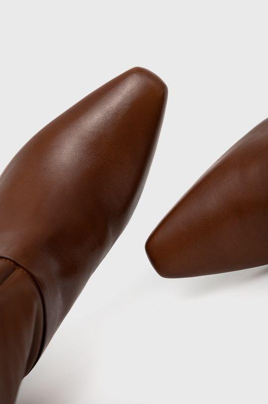 brązowy Sisley - Kozaki skórzane