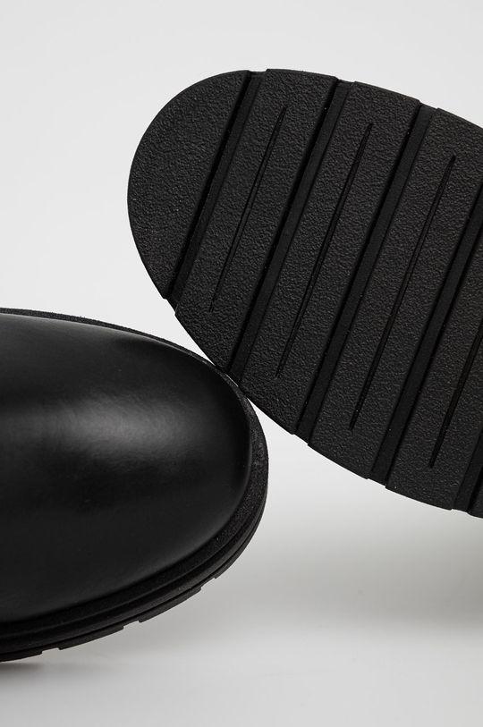 czarny Sisley - Sztyblety skórzane