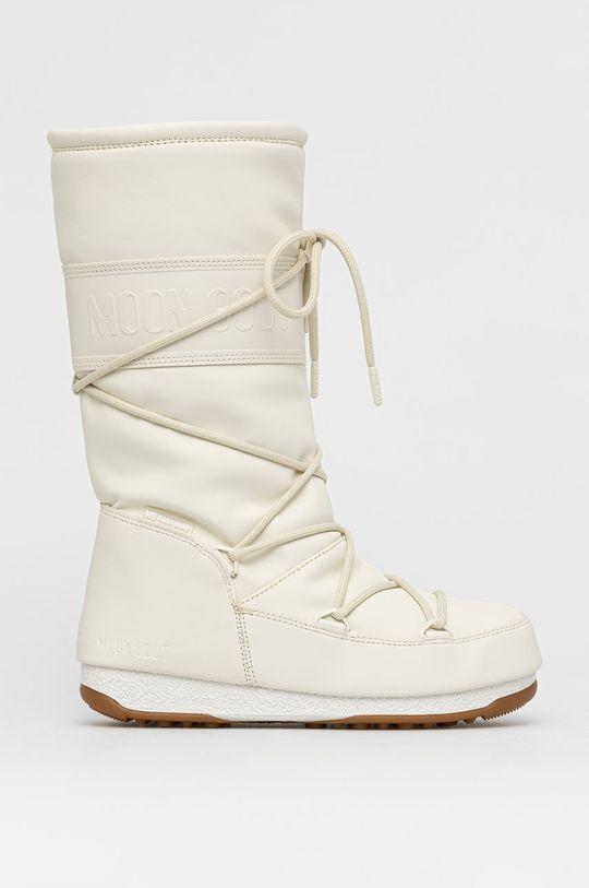 kremowy Moon Boot - Śniegowce Rubber Damski