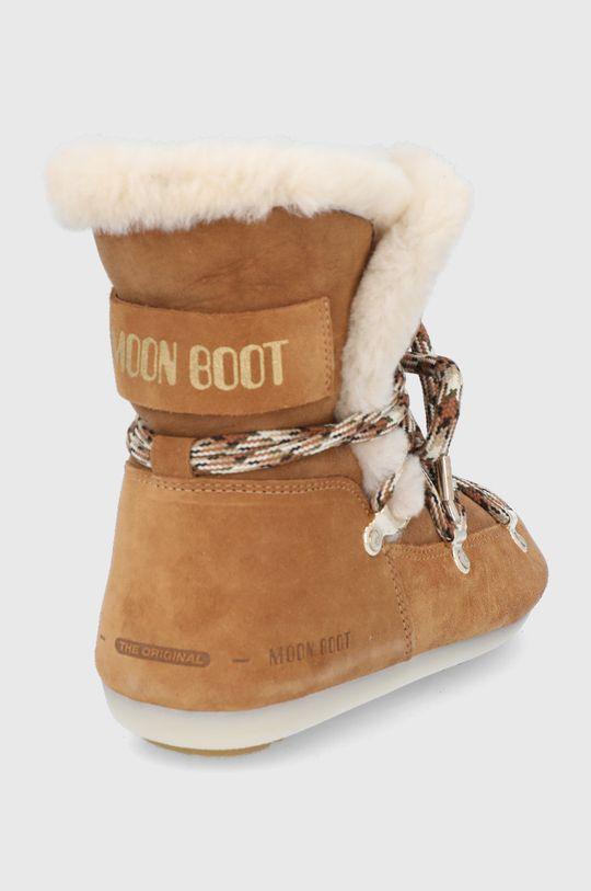 Moon Boot - Śniegowce zamszowe Side High Shearling Cholewka: Skóra zamszowa, Wnętrze: Materiał syntetyczny, Wełna, Podeszwa: Materiał syntetyczny
