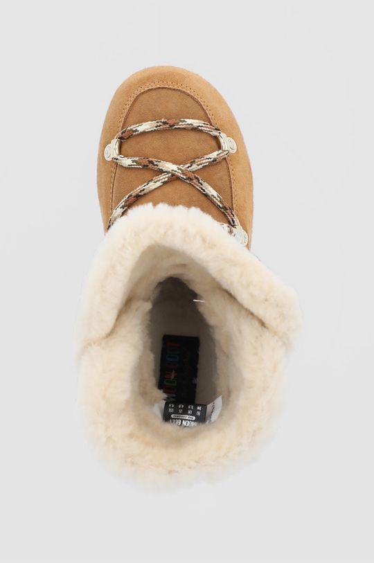 złoty brąz Moon Boot - Śniegowce zamszowe Side High Shearling
