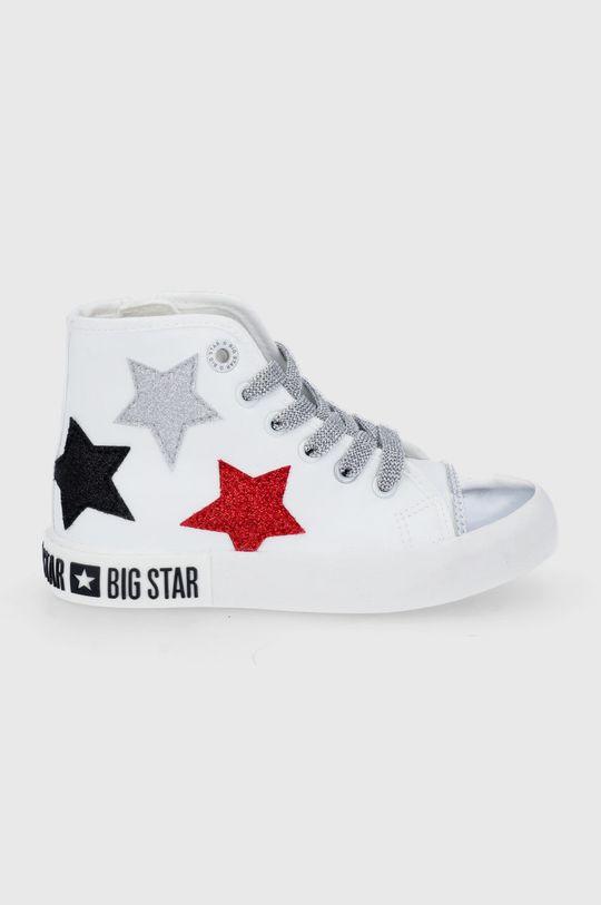 biały Big Star - Trampki dziecięce Dziewczęcy