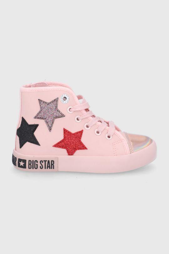 różowy Big Star - Trampki dziecięce Dziewczęcy