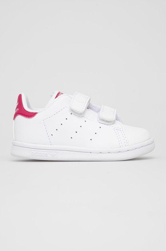 biały adidas Originals - Buty dziecięce Stan Smith CF I Dziewczęcy